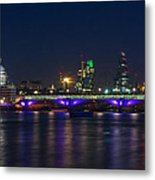 Full Moon Rise Behind St Pauls Metal Print by Andrew Lalchan