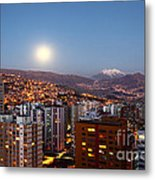 Full Moon Rising Over La Paz Metal Print