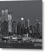 Full Moon Rising Over New York City IIi Metal Print