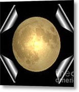 Full Moon Unfolding Metal Print