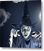 Full Moon Witch Metal Print