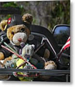 Full Throttle Teddy Bear Metal Print