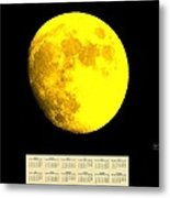 Full Yellow Moon 2014 Calendar Metal Print