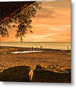 Fun At The Beach Metal Print