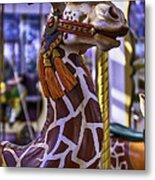 Fun Giraffe Carousel Ride Metal Print