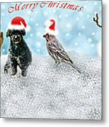 Fun Merry Christmas Card Metal Print