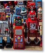 Fun Toy Robots Metal Print by Garry Gay