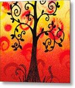 Fun Tree Of Life Impression IIi Metal Print
