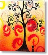 Fun Tree Of Life Impression Iv Metal Print