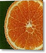 Fun With Fruit Orange Bubbles Metal Print