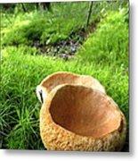 Fungi Cup Metal Print