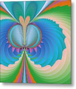 Funky Butterfly Abstract Art Metal Print