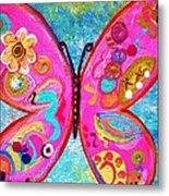 Funky Butterfly Metal Print