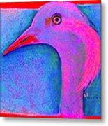Funky Demoiselle Crane Bird Art Prints Metal Print