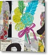 Funky Forest Collage Metal Print