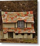 Funky House On 17 Mile Drive Metal Print