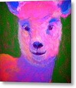 Funky Pinky Lamb Art Print Metal Print
