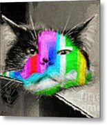 Funny Face Metal Print by Andee Design