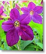 Funny Flower Faces Metal Print