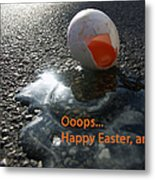 Funny Greeting Card For Easter Metal Print