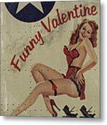 Funny Valentine Noseart Metal Print