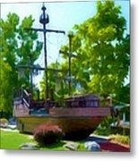 Funplex Funpark Boat 3 Metal Print by Lanjee Chee