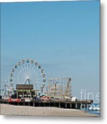 Funtown Pier Metal Print