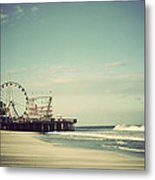 Funtown Pier Seaside Heights New Jersey Vintage Metal Print