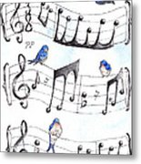 Fur Elise Song Birds Metal Print