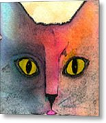 Fur Friends Series - Abby Metal Print