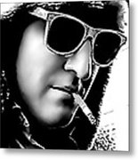 Fur Hat And Goggles Metal Print