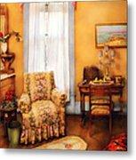 Furniture - Chair - Livingrom Retirement Metal Print by Mike Savad