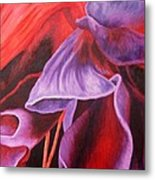 Fuschia Folds Metal Print