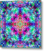 Fushia Rainbow Mandala Metal Print