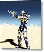 Future Soldier - Taking Aim Metal Print