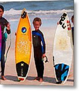 Future Surfing Champs Metal Print