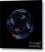 Futuristic Bubble Metal Print