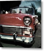 Fuzzy Dice Chevy Metal Print