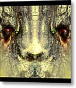 Fuzzy Rabbit Metal Print