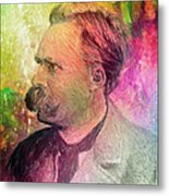 F.w. Nietzsche Metal Print by Taylan Apukovska