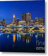 Fx2l530 Columbus Ohio Night Skyline Photo Metal Print