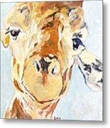 G A Giraffe Metal Print