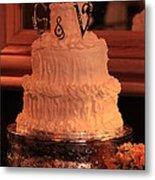 G And V Wedding Cake Metal Print