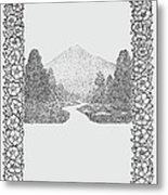 Mountain Walk Border Metal Print