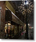 G Street Antique Store In The Snow Metal Print
