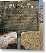Ga-005-10 Birthplace Of Charles Holmes Herty 1867-1938 Metal Print