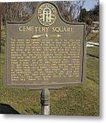 Ga-005-28 Cemetery Square Metal Print