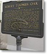 Ga-029-15 Robert Toombs Oak Metal Print