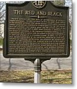 Ga-029-18 The Red And Black Metal Print