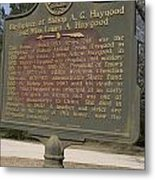 Ga-108-2 Birthplace Of Bishop A. G. Haygood And Miss Laura A. Haygood Metal Print